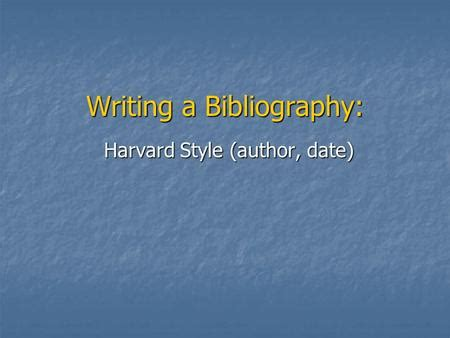 How to write a bibliography for powerpoint presentation